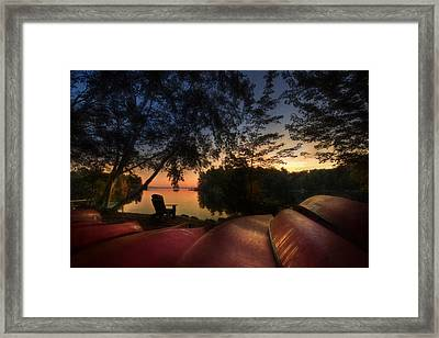 The Fall Lineup Framed Print by Lori Deiter