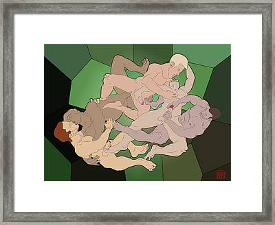 The Fall Of Argos Framed Print by Mon Graffito