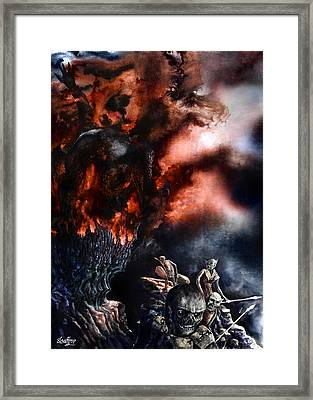 Framed Print featuring the painting The Fall Of Azturath by Curtiss Shaffer