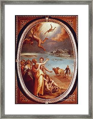 The Fall Of Icarus Framed Print by Granger