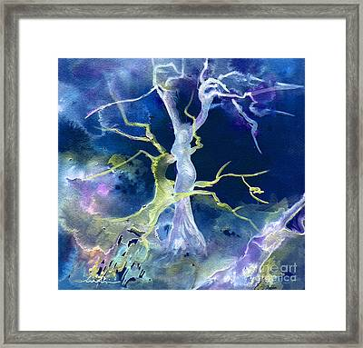 The Fall Of Sodom Framed Print by Miki De Goodaboom
