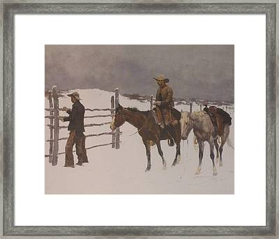 The Fall Of The Cowboy Framed Print