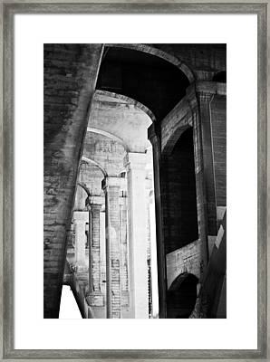 the fall of the house of Escher Framed Print