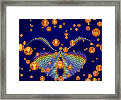 The Fall Of The Orange Spheres Framed Print