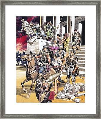 The Fall Of The Roman Empire In The West Framed Print by Ron Embleton