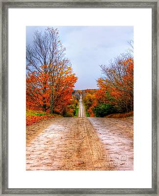 The Fall Road Framed Print by Michael Garyet