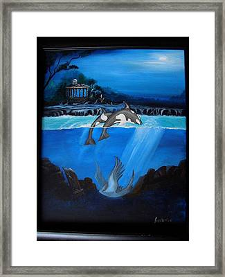 The Fallen Framed Print by Glory Fraulein Wolfe