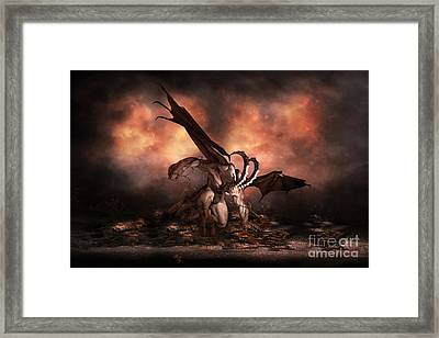 The Fallen Framed Print by Shanina Conway