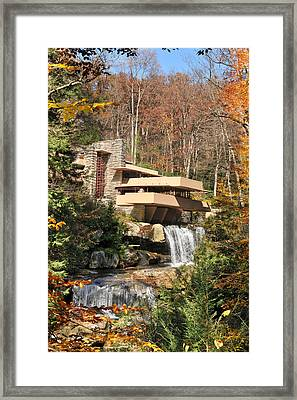 The Fallingwater Framed Print by Edwin Verin