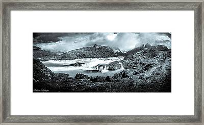 The Falls In Black And White Framed Print by Andrew Matwijec