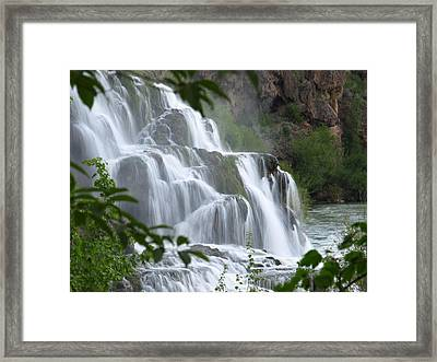 The Falls Of Fall Creek Framed Print