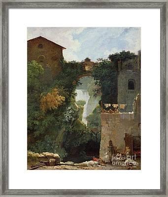 The Falls Of Tivoli Framed Print by Jean Honore Fragonard