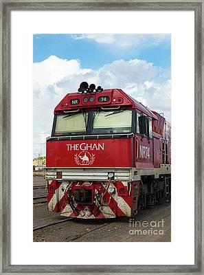 The Famed Ghan Train  Framed Print