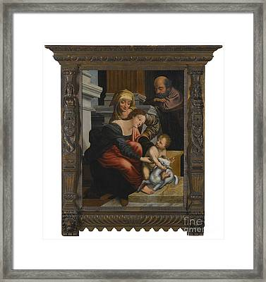 The Family With Saint Anne Framed Print