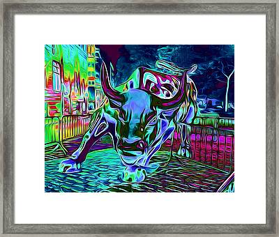 The Famous Bull Framed Print by Yury Malkov