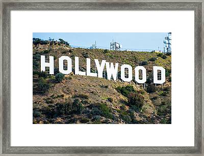 The Famous Hollywood Sign In Hollywood California Framed Print by Gregory Ballos