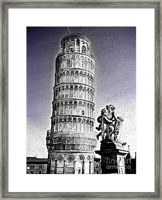 The Famous Leaning Tower Of Pisa Framed Print