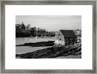 The Famous Lobsterman Shack On Mackerel Cove  Framed Print by Olivier Le Queinec