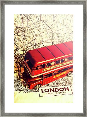 The Famous Red Bus Framed Print