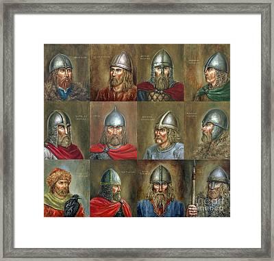 The Famous Vikings Framed Print