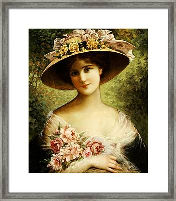 The Fancy Bonnet Framed Print by Emile Vernon