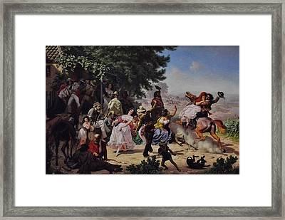 The Fandango Framed Print by Charles Nahl