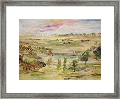 The Far Away Place Framed Print by Edward Wolverton