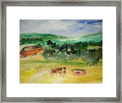 The Farm Framed Print by Edward Wolverton
