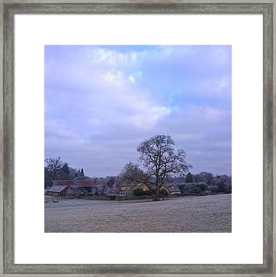 The Farm In Winter Framed Print