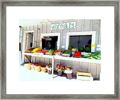 The Farm Stand Framed Print by Ed Weidman