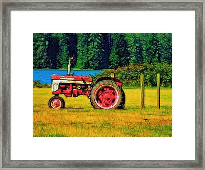 The Farmall 240 Framed Print by Tim Coleman