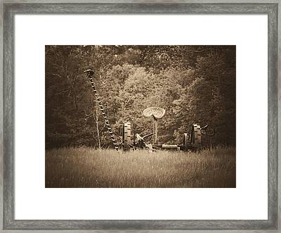 A Farmer's Field Framed Print
