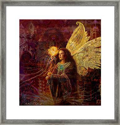 The Fary Sorcoress Framed Print