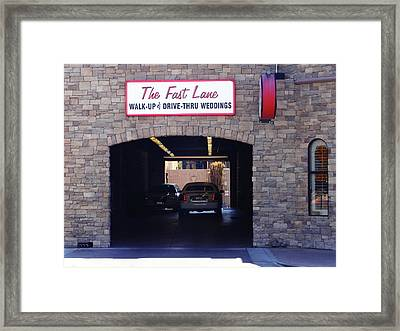 The Fast Lane 2 Framed Print by Bruce Iorio