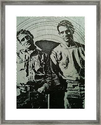 The Father Of The Beatniks Jack Kerouac Framed Print by Shawn Hughes