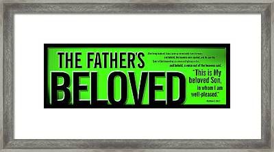 The Father's Beloved Framed Print by Shevon Johnson