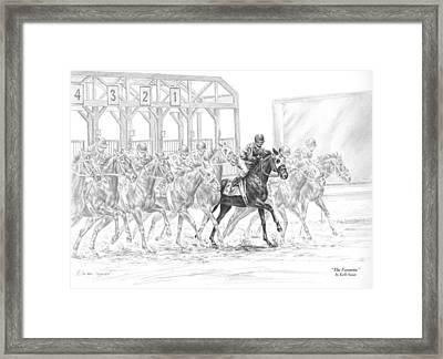 The Favorite - Horse Racing Art Print Framed Print by Kelli Swan