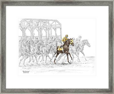 The Favorite - Thoroughbred Race Print Color Tinted Framed Print