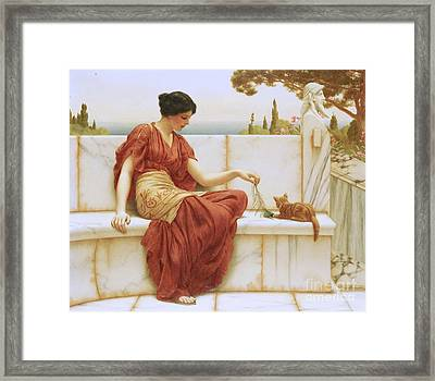 The Favorite Framed Print by John William Godward