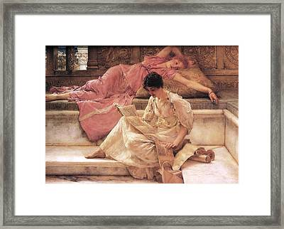 The Favorite Poet Framed Print