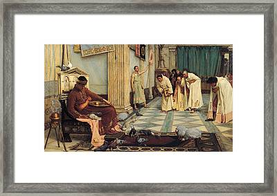 The Favourites Of The Emperor Honorius Framed Print by John William Waterhouse