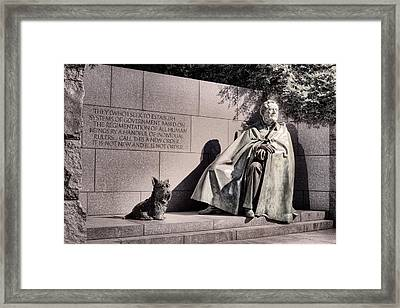 The Fdr Memorial Framed Print by JC Findley