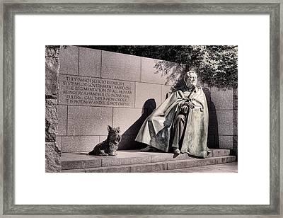 The Fdr Memorial Framed Print