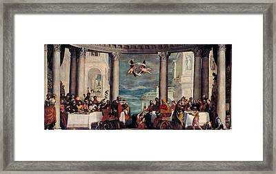 The Feast In The House Of Simon The Pharisee  Framed Print