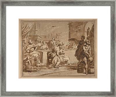 The Feast Of Belshazzar Framed Print