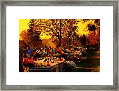 The Feast Of The Dead Framed Print
