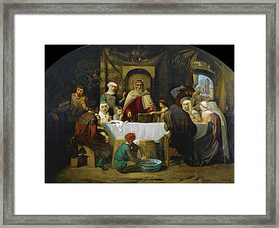 The Feast Of The Tabernacles Framed Print