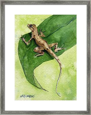 The Feckless Gecko Framed Print by Kris Parins