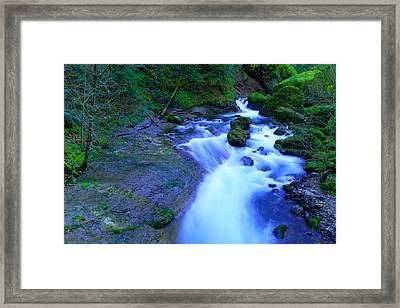 The Feel Of Fresh Air And The Music Of Water Framed Print by Jeff Swan