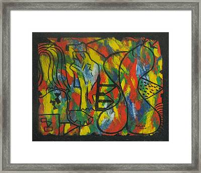 The Female Versus Male - Artificial Appearance  Framed Print by Alfonso Robustelli